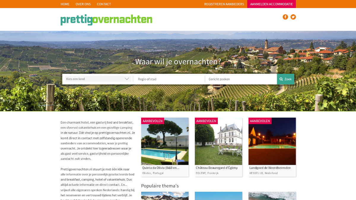 Prettigovernachten website